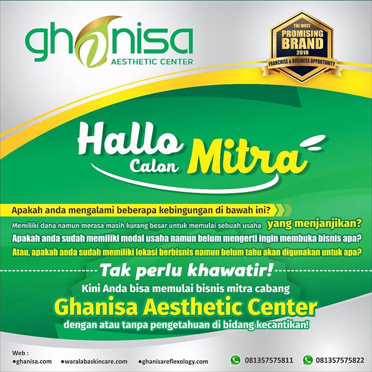 Franchise Peluang Usaha ghanisa aesthetic indonesia