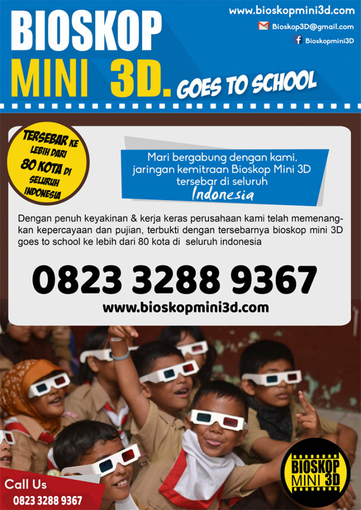 Franchise Peluang Usaha Bioskop Mini 3D goes to School