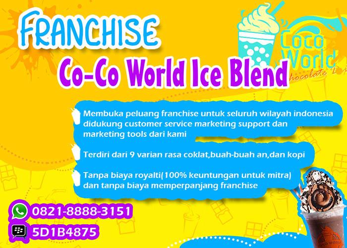 Franchise Peluang Usaha Co-Co World Ice Blend