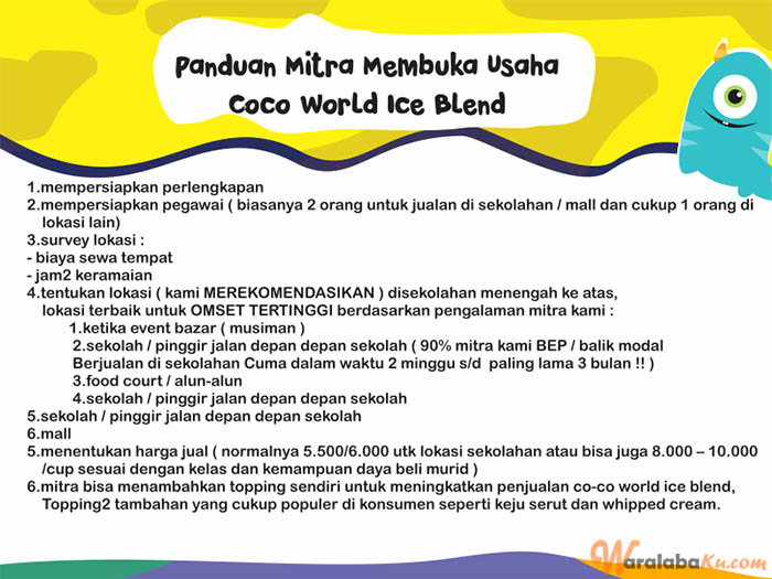 Franchise Peluang Usaha Co-Co World Ice Blend