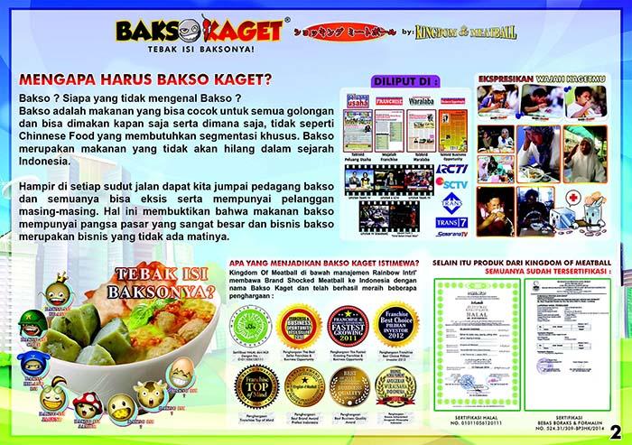franchise peluang usaha Kingdom of Meatball - Bakso Kaget