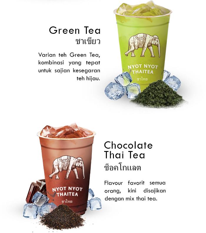 Franchise Peluang Usaha minuman teh nyot nyot thai tea Menu Green Tea