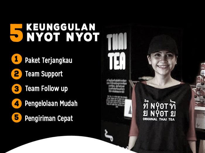 Franchise Peluang Usaha minuman teh nyot nyot thai tea Info Franchise