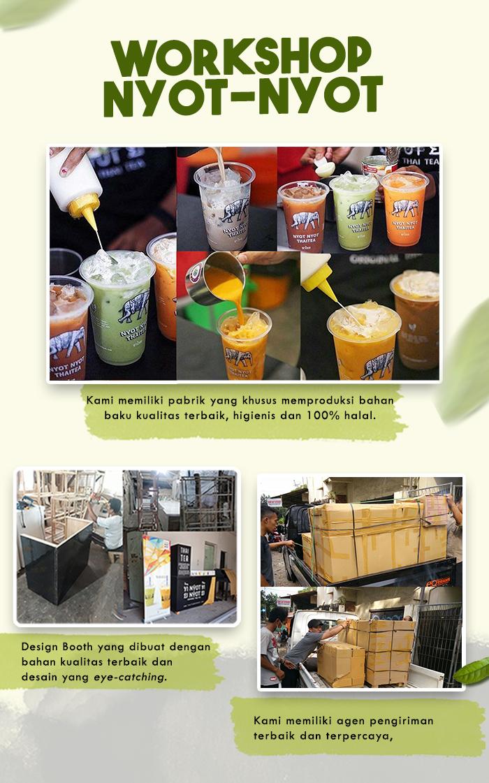 Franchise Peluang Usaha minuman teh nyot nyot thai tea