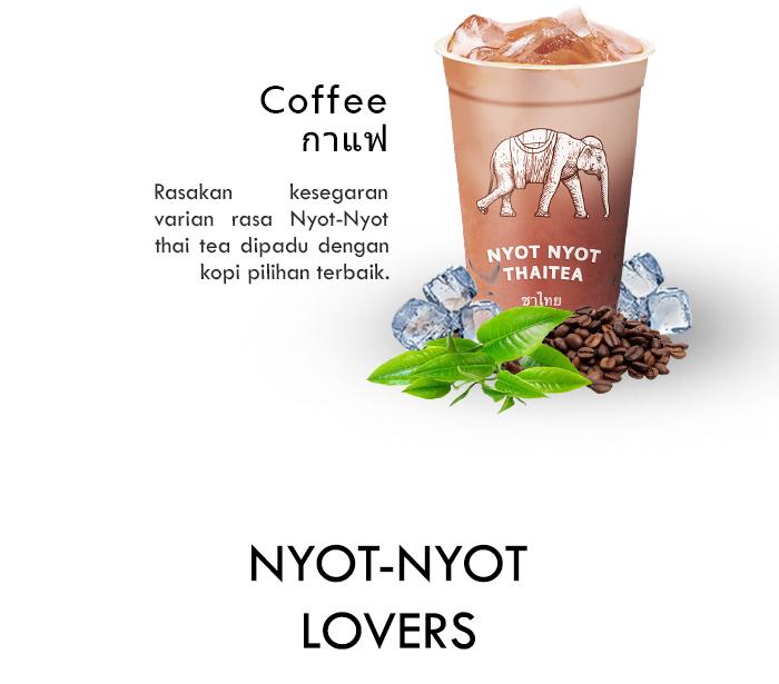Franchise Peluang Usaha minuman teh nyot nyot thai tea Menu Coffee