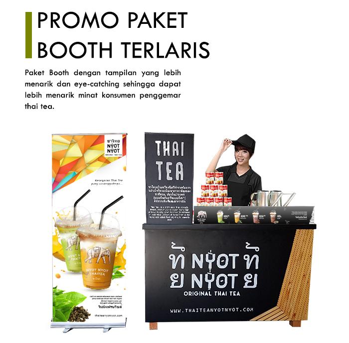 Franchise Peluang Usaha minuman teh nyot nyot thai tea Promo Booth Terlaris