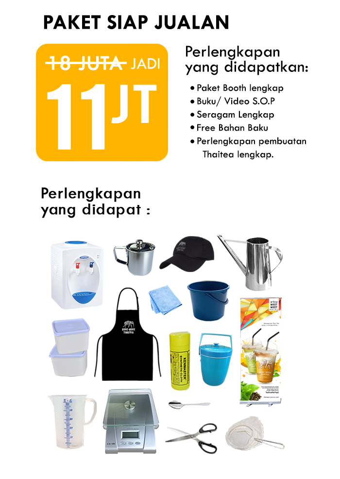 Franchise Peluang Usaha minuman teh nyot nyot thai tea Paket Siap Jual