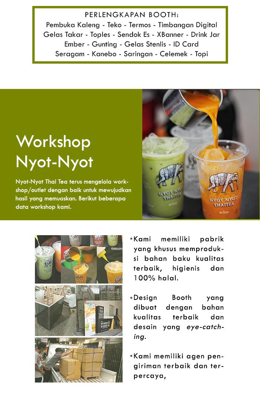 Franchise Peluang Usaha minuman teh nyot nyot thai tea Perlengkapan