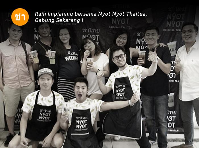 Franchise Peluang Usaha minuman teh nyot nyot thai tea Menu